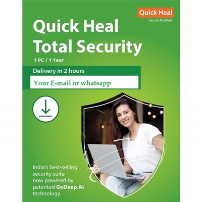 Quick Heal Total Security Latest Version - 1 PC, 1 Years (Email Delivery in 2 hours- No CD)