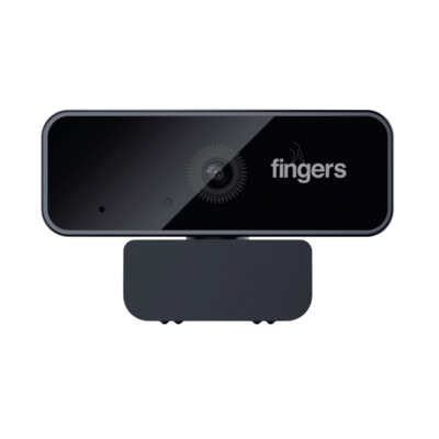 FINGERS 1080 Hi-Res Webcam with 1080p Wide Angle Lens and Built-in Mic