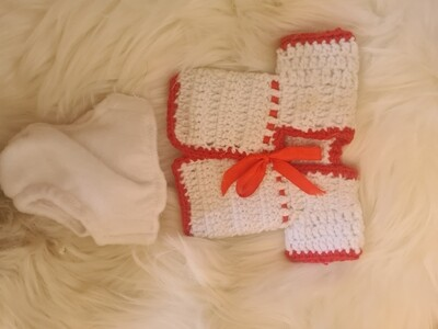 10 inch White and red set