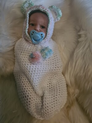 Reborn baby bear cocoon