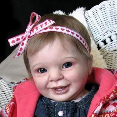 Samantha by Bountiful babies including eyes, clothbody,eyes, glassbead,lashes and wonder wafer