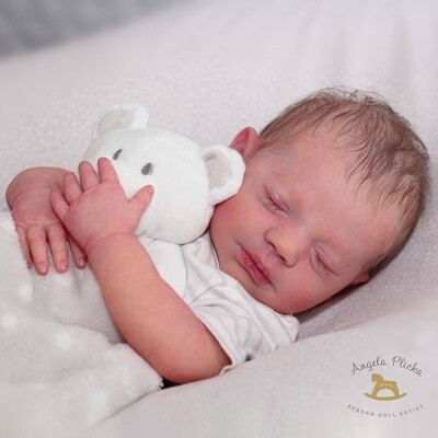 Steven asleep by Bountiful babies ready to be reborn, cloth body, glassbeads, eyes, lashes and wonder wafer included