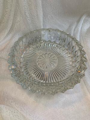 Vintage Glass Ashtray (Large, Heavy Duty)