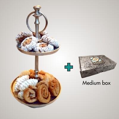 Luxe Cadeau Etagère | 6 soorten | ca. 46 koekjes
