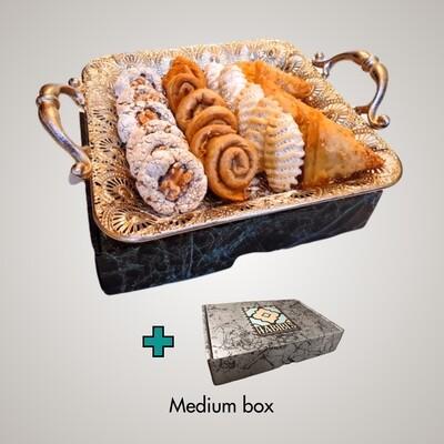 Luxe Cadeau Dienblad | 6 soorten | ca. 42 koekjes