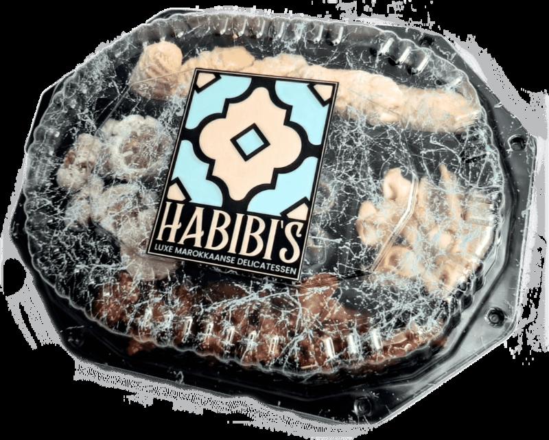 Marokkaanse koekjesschaal | 5 soorten | ca. 36 stuks