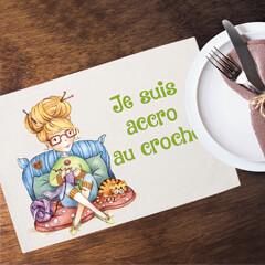 Napperon en lin - La crocheteuse - C. Fellis