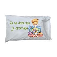 Taie d'oreiller - La crocheteuse - C. Fellis