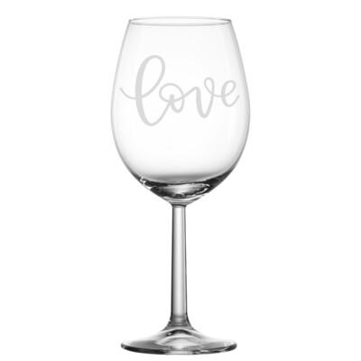 Verre à vin - Love