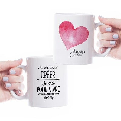 Tasse céramique - Je vis pour créer