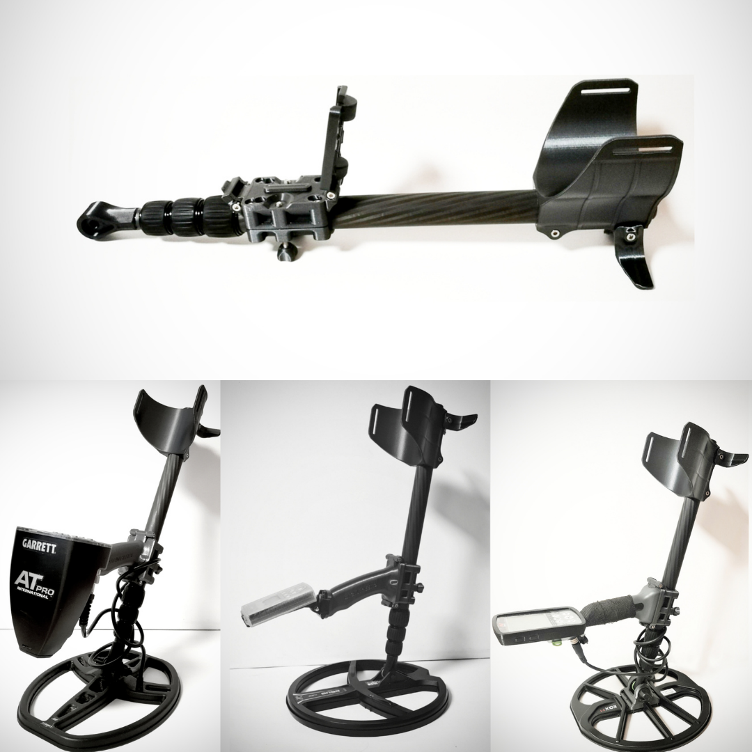 Universal Carbon telescopic rod with folding bracket and armrest