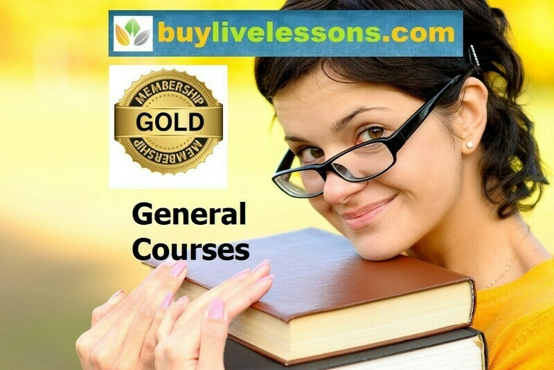 BUY 100 GENERAL LIVE LESSONS FOR 60 MINUTES EACH.