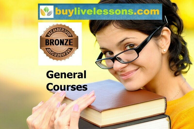 BUY 100 GENERAL LIVE LESSONS FOR 30 MINUTES EACH.