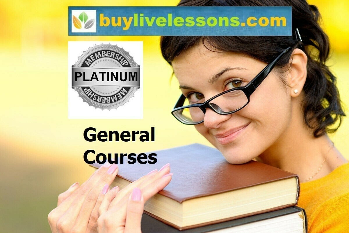 BUY 90 GENERAL LIVE LESSONS FOR 90 MINUTES EACH.