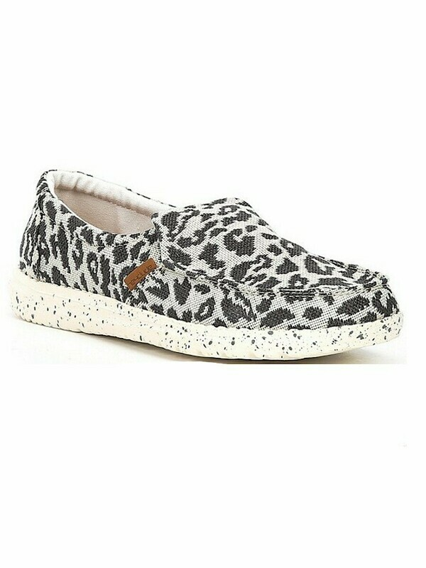 Hey Dude Misty Woven Cheetah Grey WP