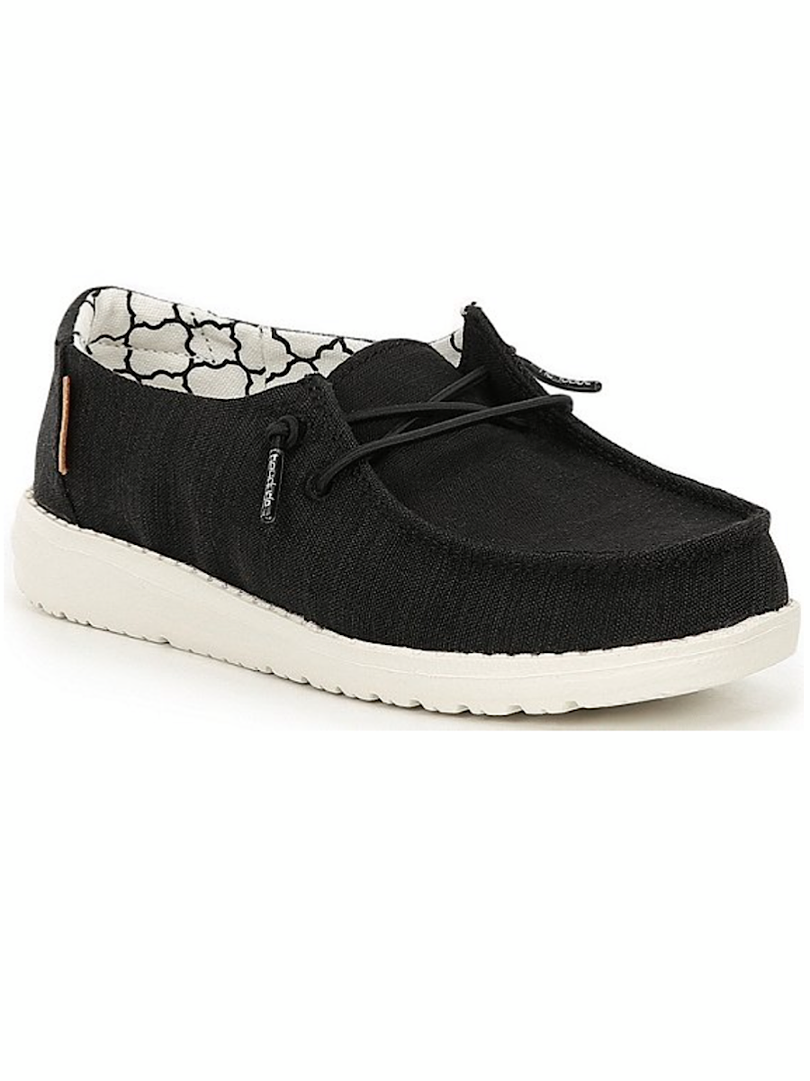 Hey Dude Wendy Youth Linen Black MS