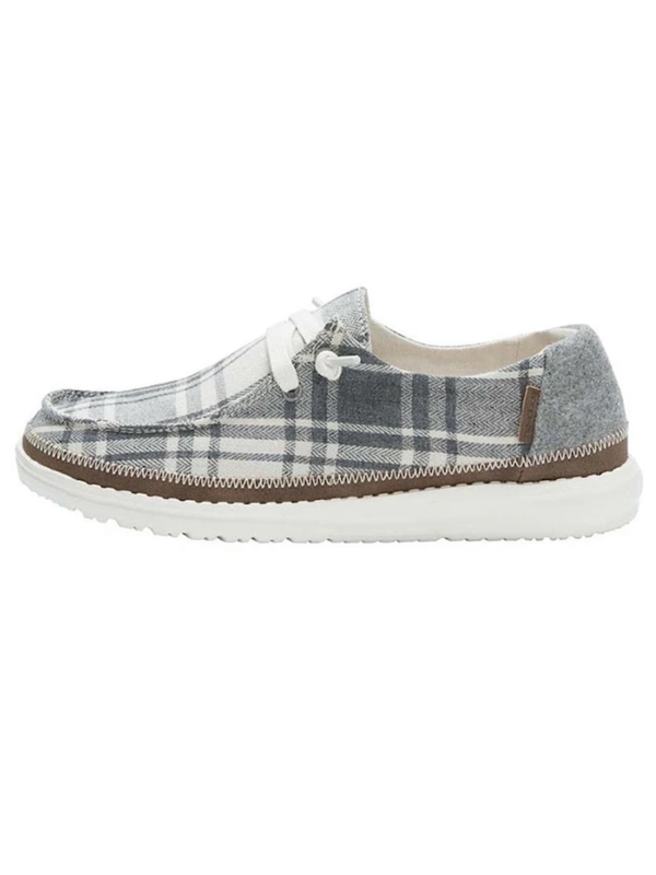 Hey Dude Wendy Plaid Grey WP