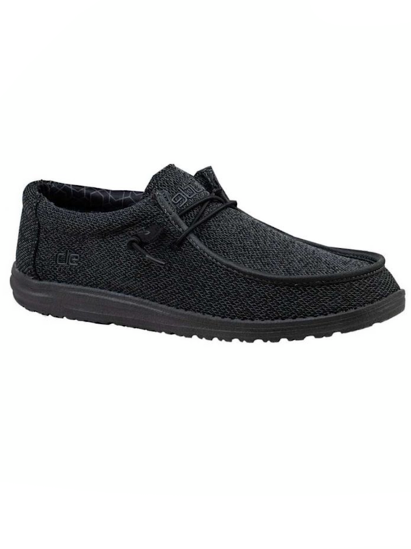 Hey Dude Wally Sox Micro Total Black MS