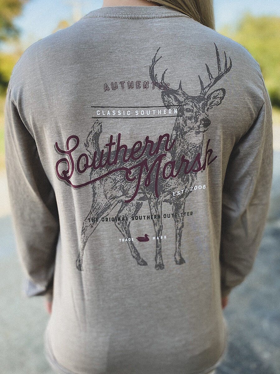 Southern Marsh Burnt Taupe Deer L/S