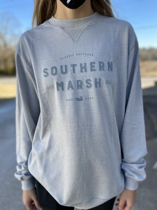 Southern Marsh Light Gray Gameday Sweatshirt