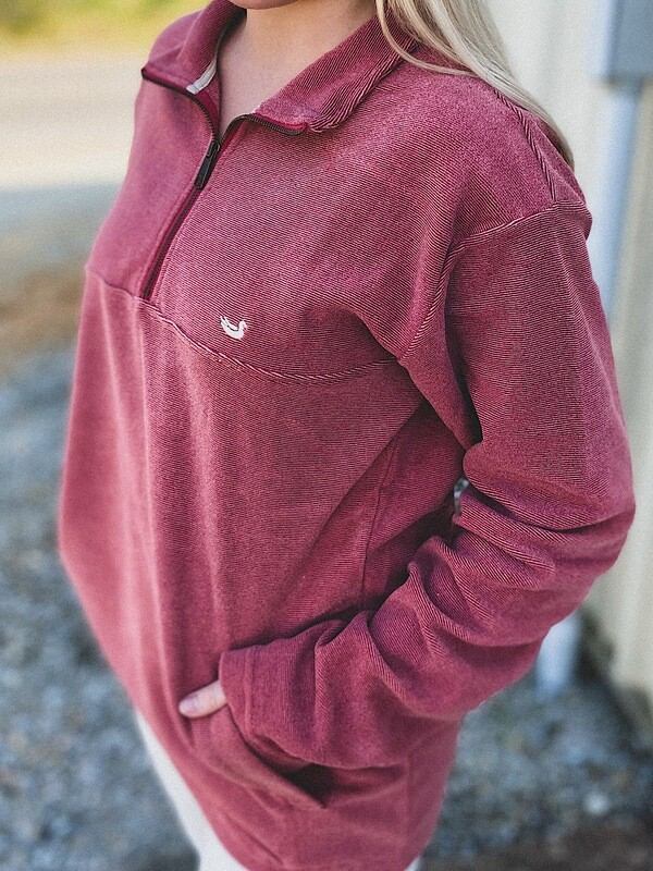 Southern Marsh Maroon Copper Trail Fleece Pullover