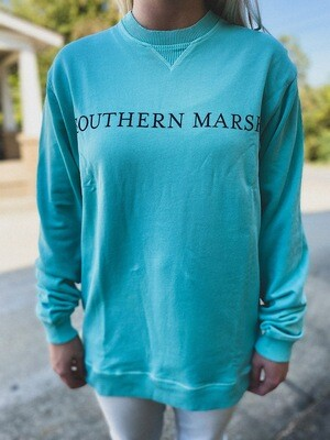 Southern Marsh Antigua Blue Pullover