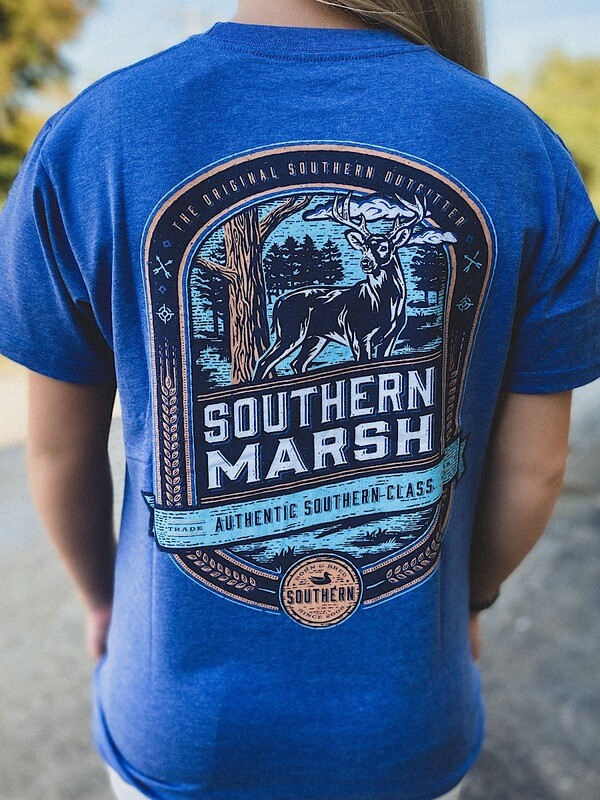 Southern Marsh Washed Oxford Blue Deer S/S