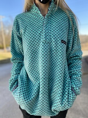 Southern Marsh Slate/Mint Arapaho Fleece Pullover