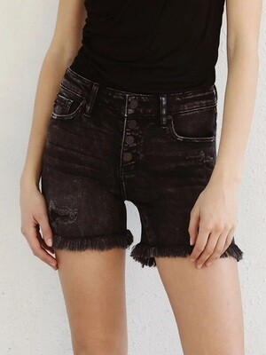 Black KanCan Frayed Shorts