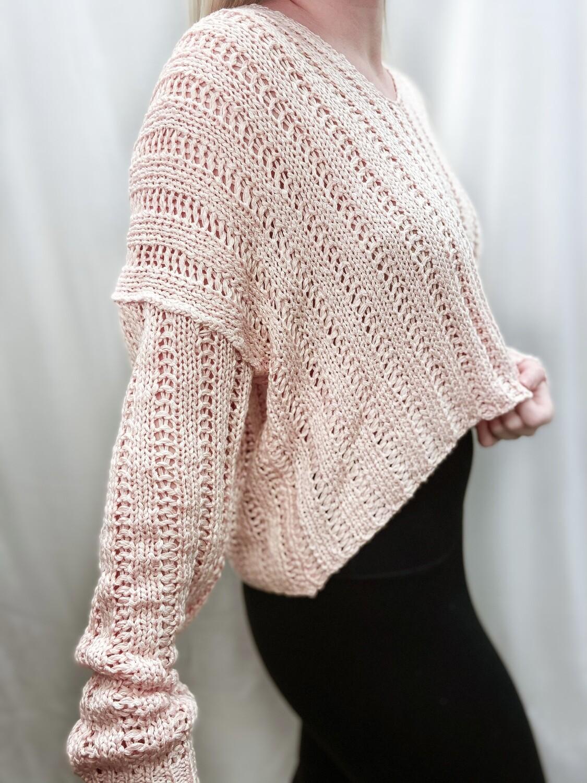 Blush Cropped Sweater