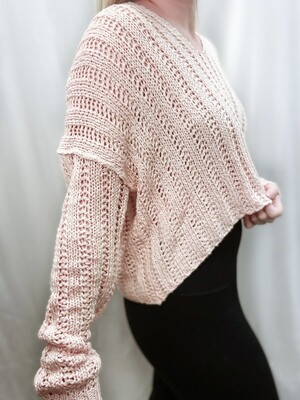 Blush Cropped Sweater
