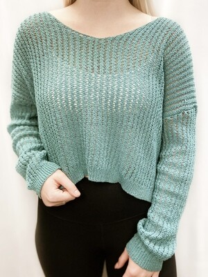 Seafoam Green Sweater