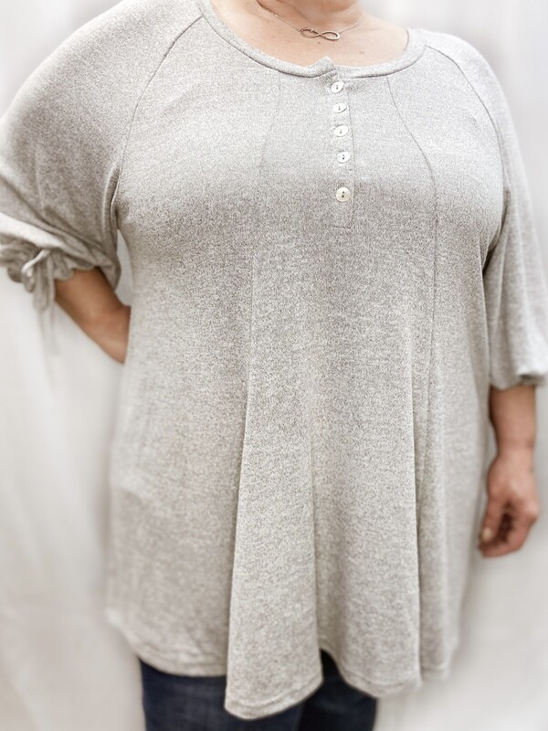 Grey Plus Knit Top WP