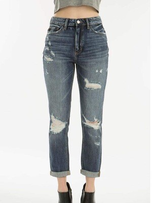 KC 9147 Benny High Rise Girlfriend Jeans