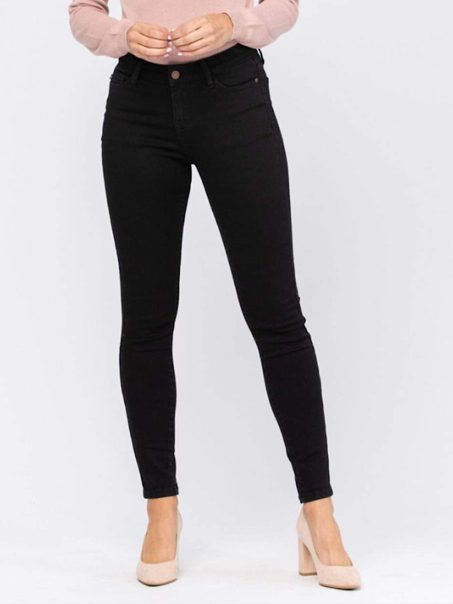 JB8883 Mid Rise Non Distressed Skinny WP