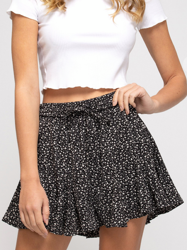 Black Printed Shorts MS