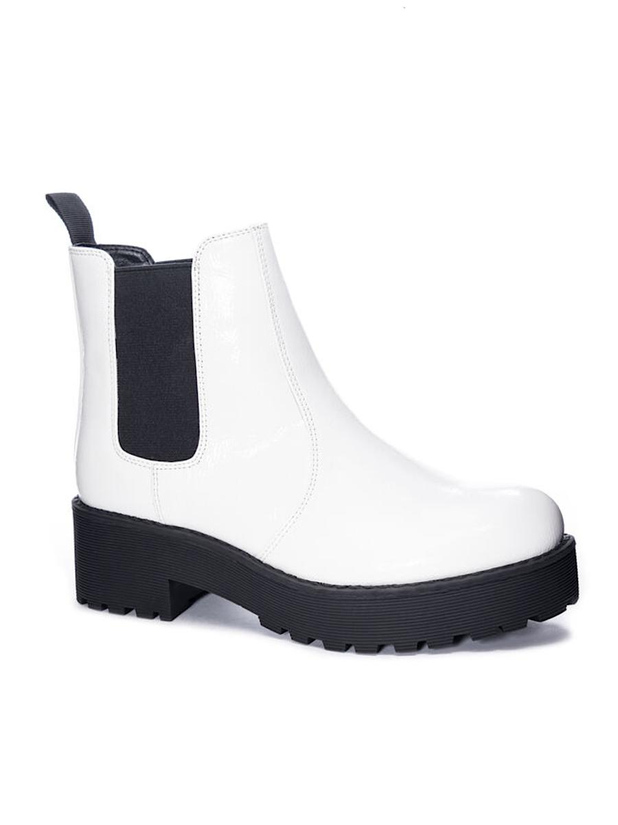 Margo Patent White Boot