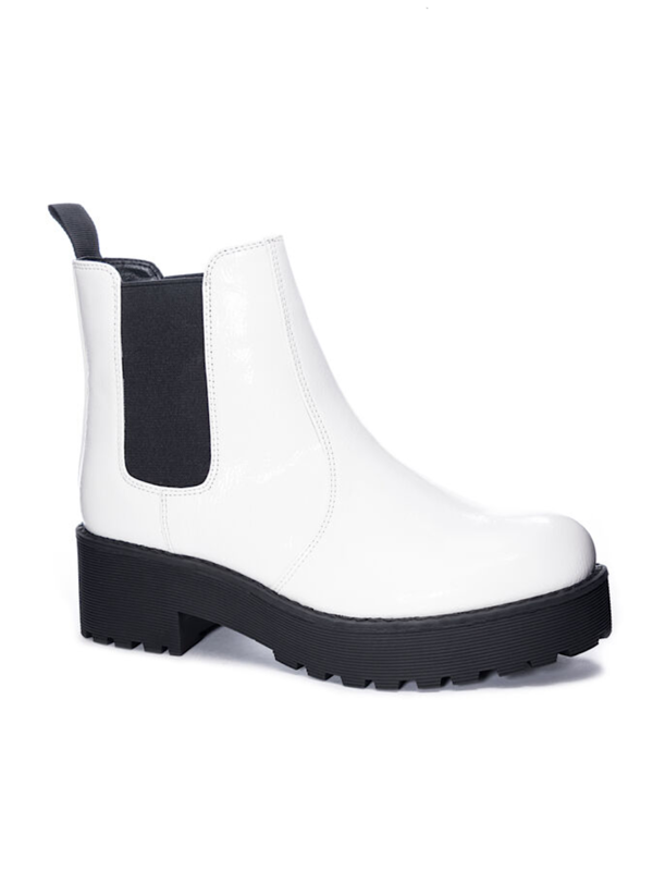 Margo Patent White Boot