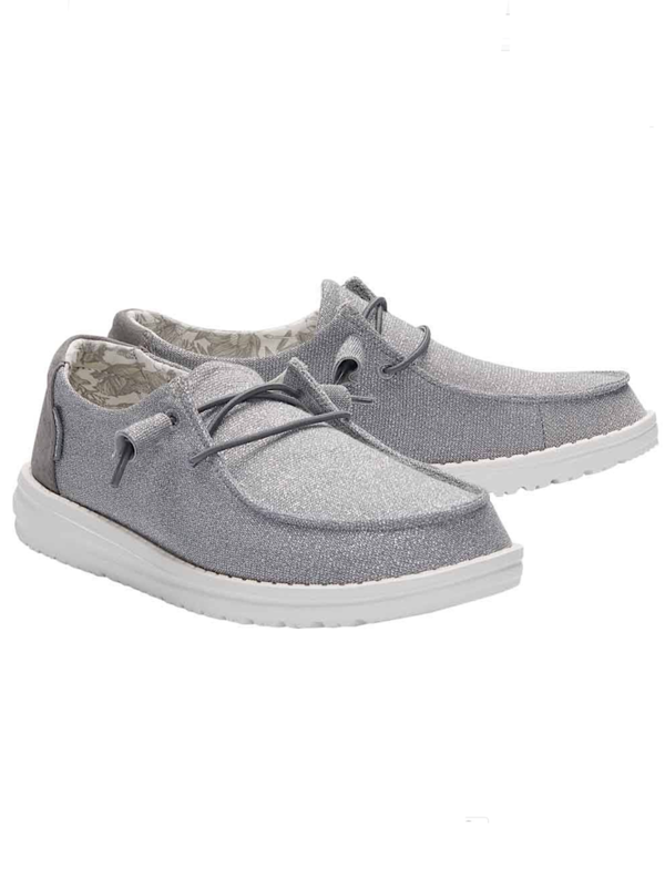 Hey Dude Wendy Stretch Sparkling Grey