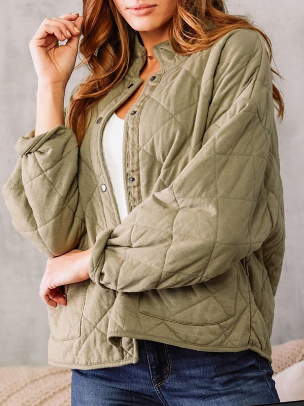 Olive Maya Quilted Jacket
