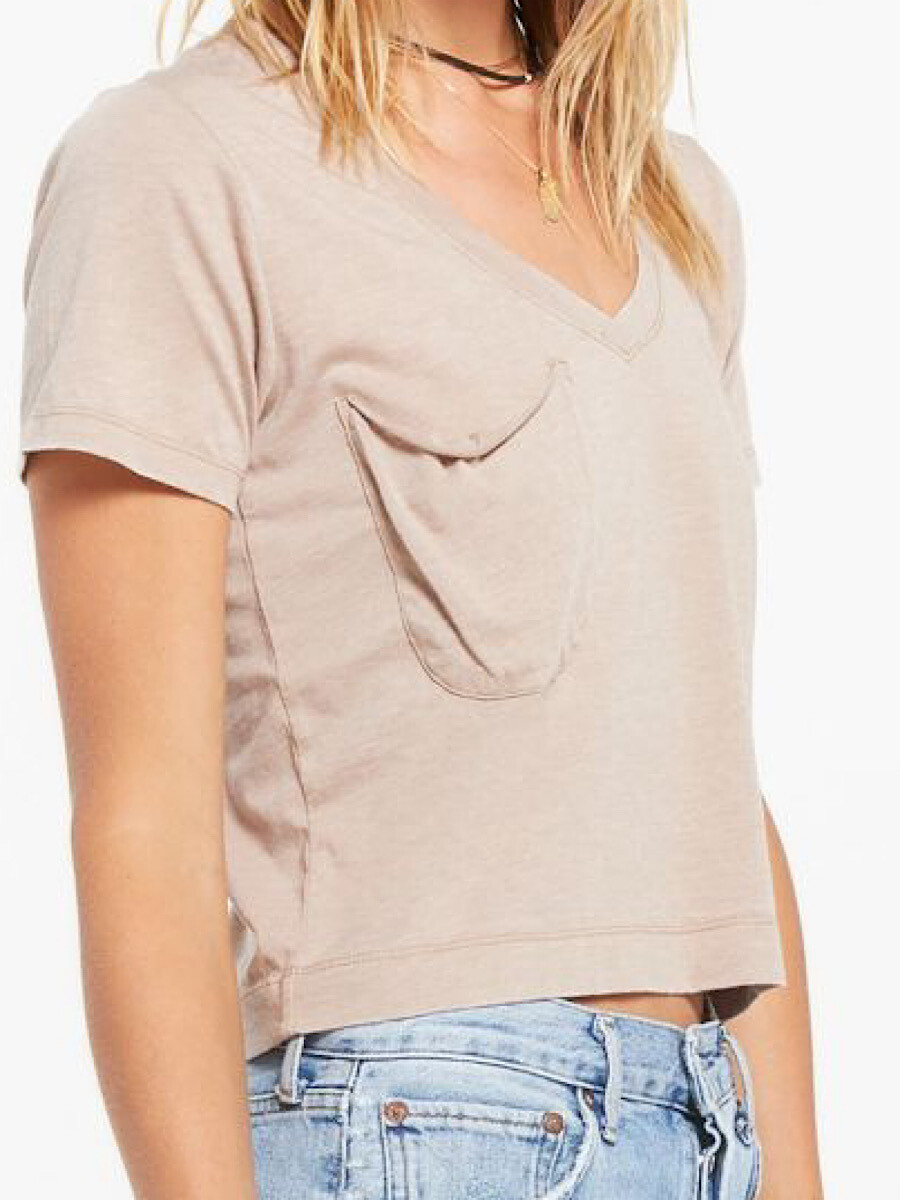 Taupe Skimmer Tee