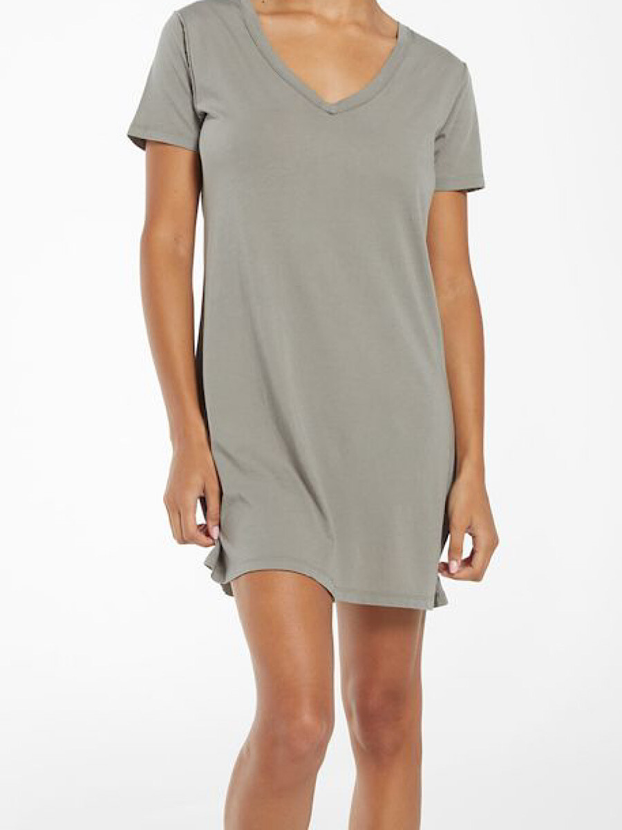 Sage T-Shirt Dress