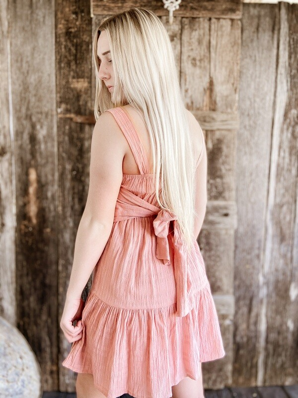 Mauve Tie Back Dress