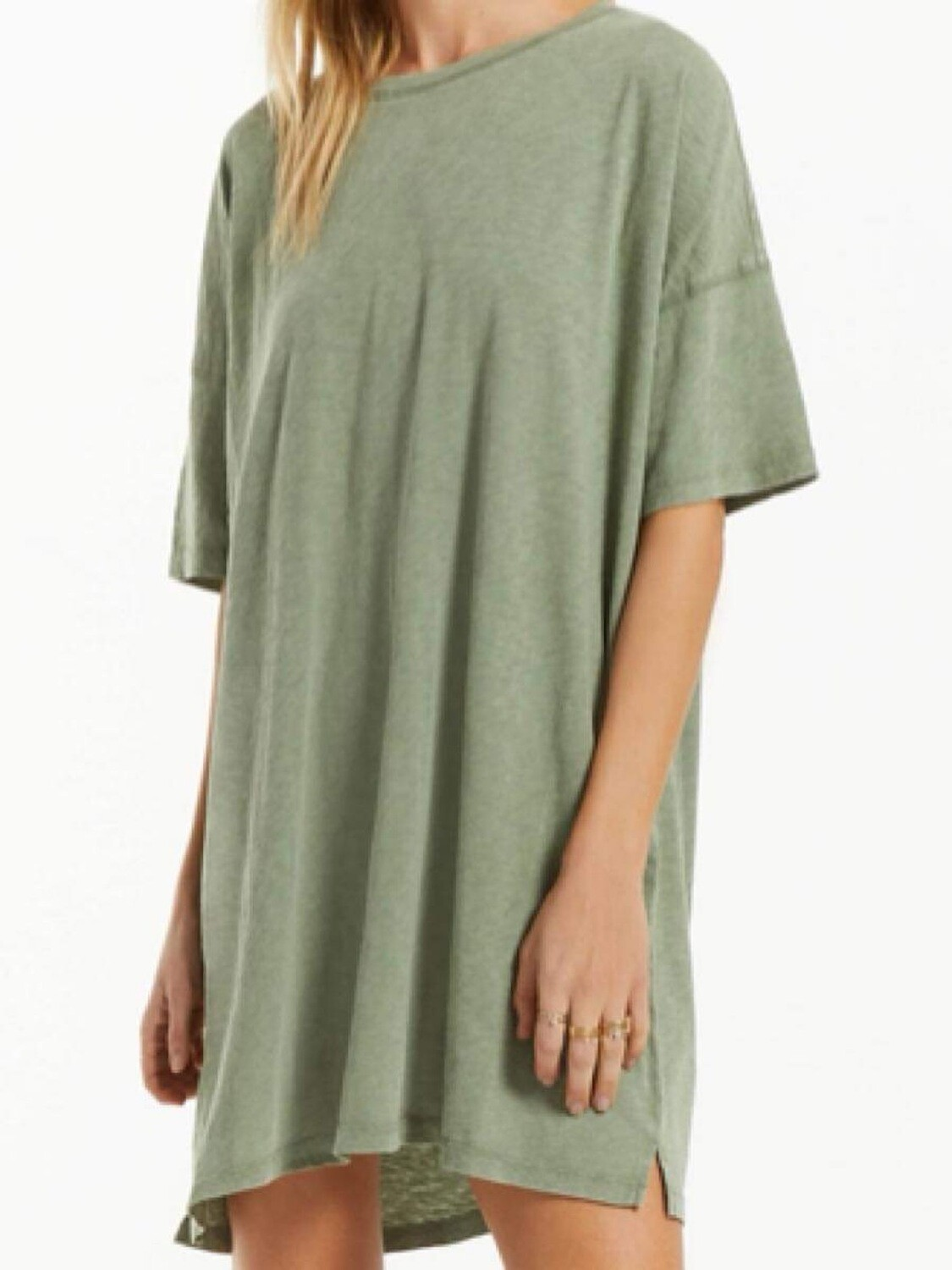 Z Supply Delta Green Shirt Dress
