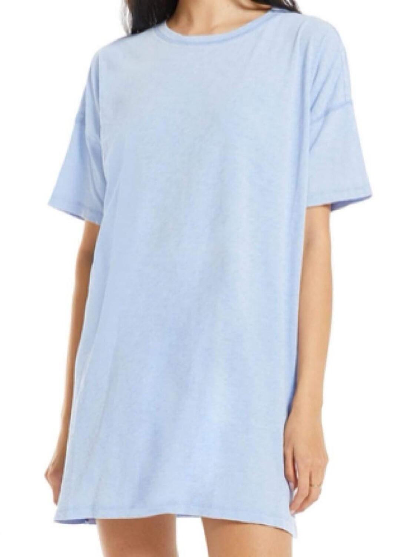 Z Supply Delta Perennial Blue Shirt Dress