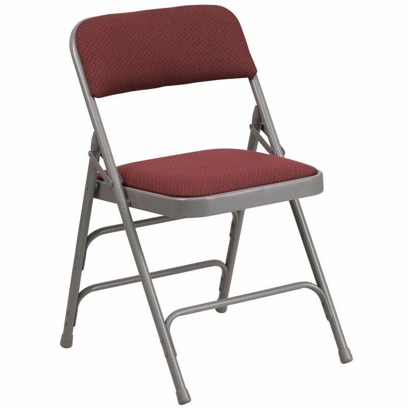 Burgundy Foldable Chairs