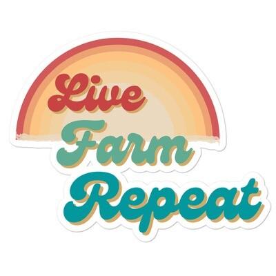 Live Farm Repeat Bubble-free stickers