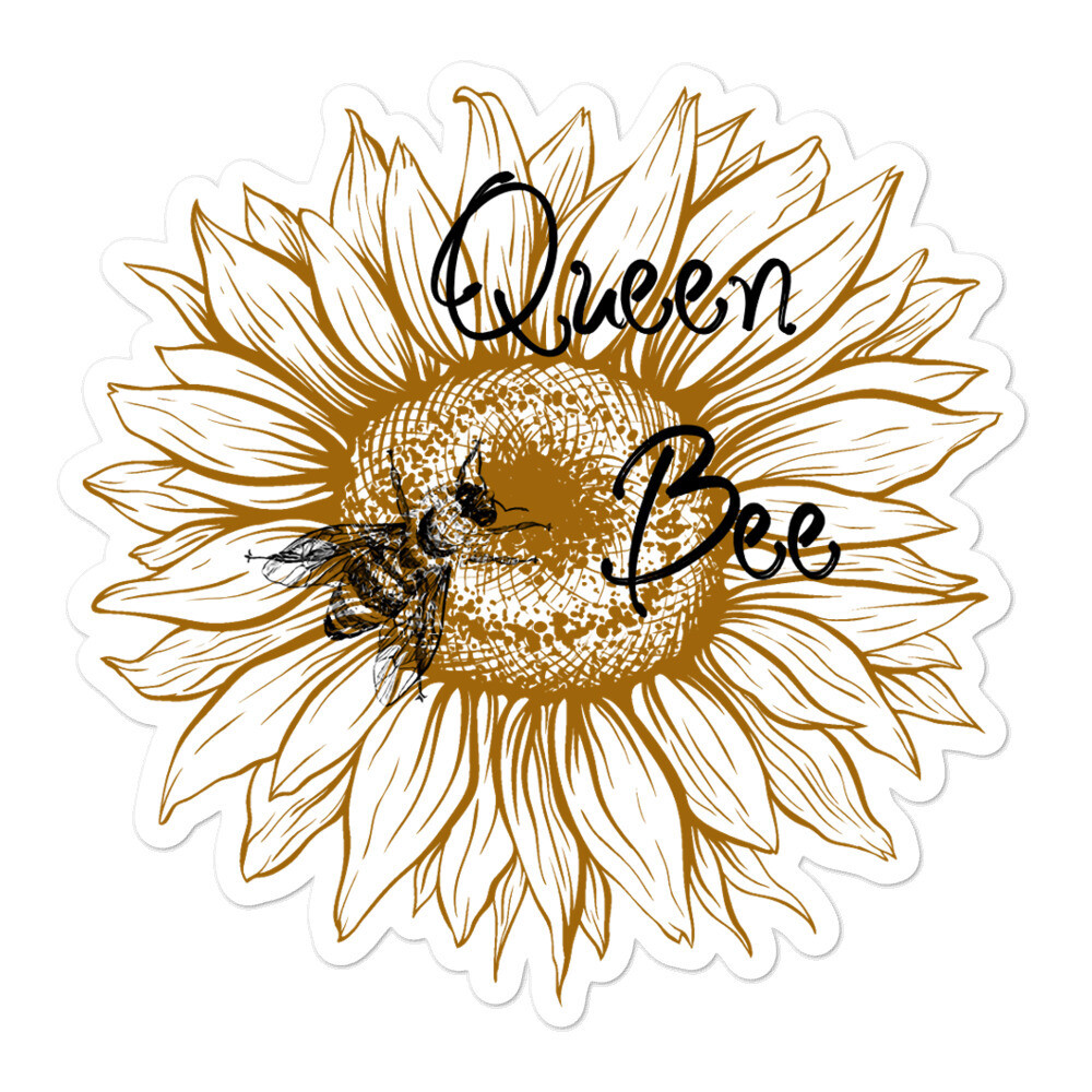 Queen Bee Sunflower Bubble-free stickers