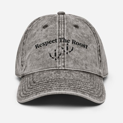 Respect The Roost Vintage Cotton Twill Cap