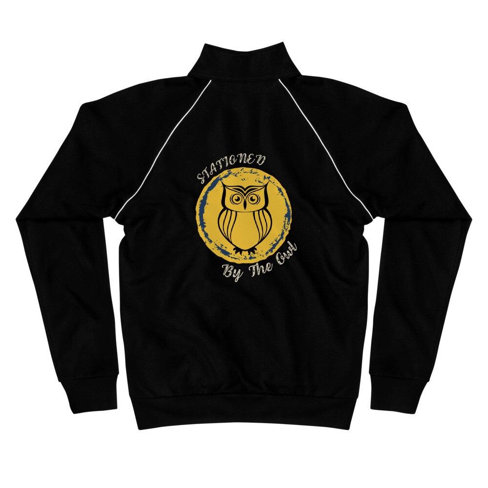 Stationed By The Owl Piped Fleece Jacket